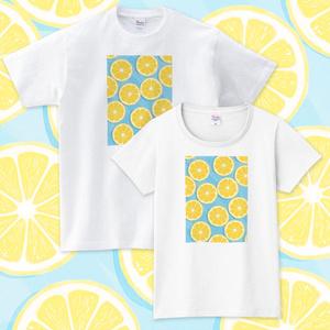 【送料無料】メンズ・レディースサイズ有★水の上のレモン Tシャツ