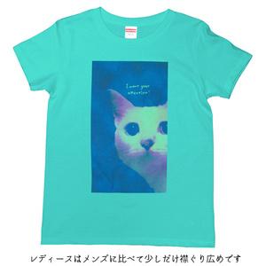 【送料無料】メンズ・レディースサイズ有★かまってにゃん Tシャツ