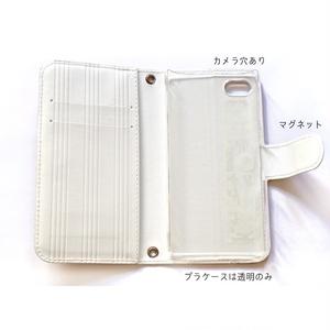 【送料無料】くじらFAM 手帳型iPhoneケース