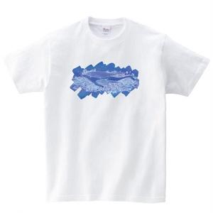 【送料無料】メンズ・レディースサイズ有★くじらTシャツ