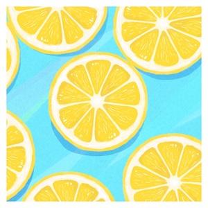 【送料無料】水の上のレモン Androidケース(ハードケース全面プリント)