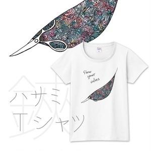 【送料無料】メンズ・レディースサイズ有★Show your colors ハサミ Tシャツ