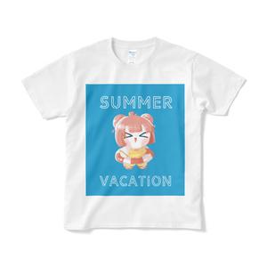 夏ピンクTシャツ