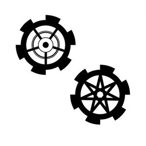フリー素材【歯車もどき】1