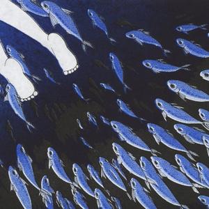ブックカバー『魚群』