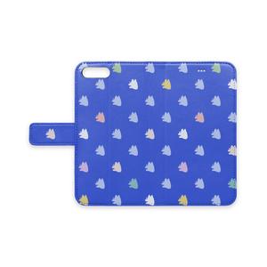 手帳型iPhoneケース(ガラゴンマーブル柄)