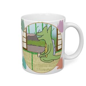 ほっとひといきガラゴンマグカップ