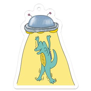 UFOに連れ去られるガラゴンアクリルキーホルダー