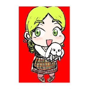 【ポストカード】ロコトルア民族衣装シリーズ3 マケドニア(ニコリナ)