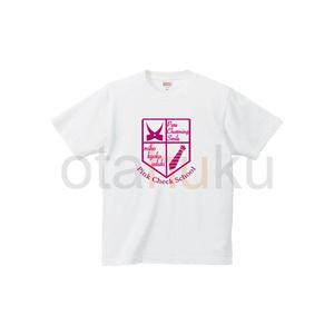 在庫限り ピンクチェックスクール 半袖Tシャツ