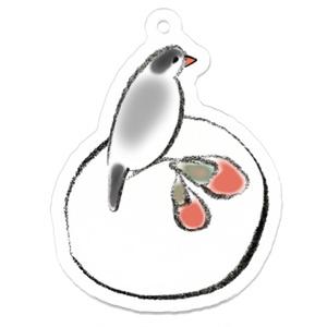 桜文鳥と桜まんじゅう