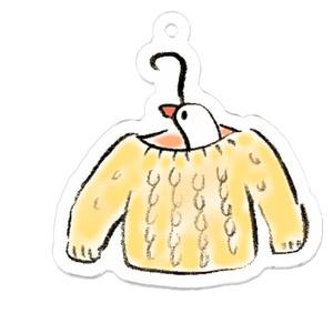 ひょっこり文鳥さん(セーター)