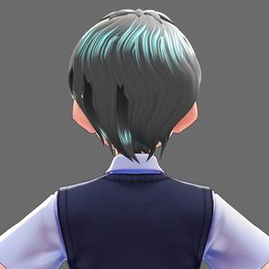【VRoid】ヘアプリセット くせっ毛ショート