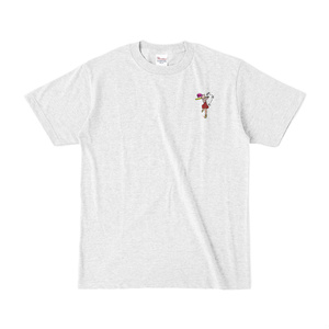 おきゅたんのミニぱっっかーんTシャツ(淡色)