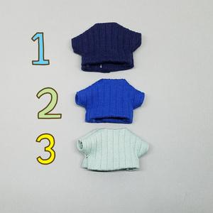 ぬい服 スエードジャケット リブニット レザーパンツ 10cm 12cmサイズ