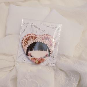 【SALE】乙女心ブローチ 布製 文化人形/アルビノケーキ