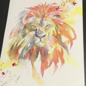 《原画》ライオン 水彩画