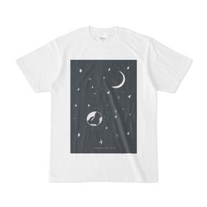 宇宙の中の地球と月