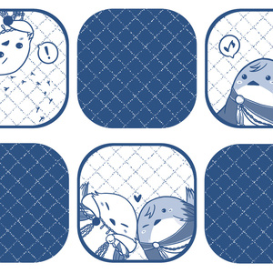 鶴丸&一期(鳥)トートバッグ