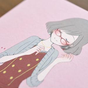 イラストカード「もみじ」
