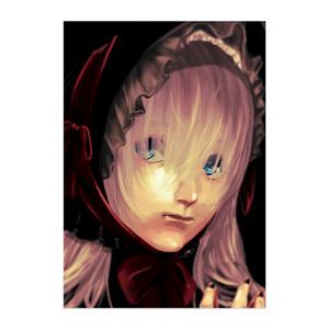 黑と赤と少女ポスター
