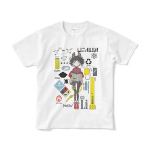 元素がその元素の関連したものに囲まれるTシャツ