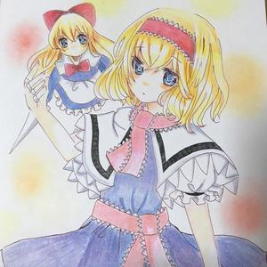 アリス・マーガトロイド 手描き色紙