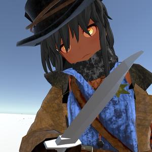VRchat向け 『鞘付きナイフ』386ポリゴン