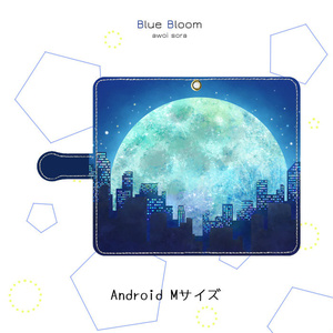 手帳型スマホケース*月下都市【Android】