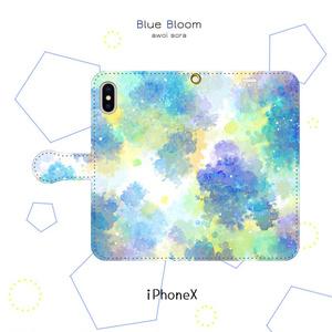 手帳型スマホケース*青のささやき【iPhone】