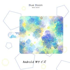 手帳型スマホケース*青のささやき【Android】