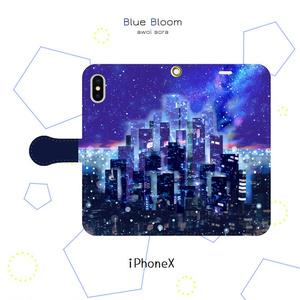 手帳型スマホケース*未来都市【iPhone】