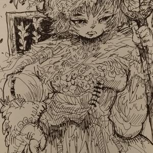 ポストカード原画『民族娘』