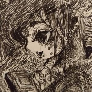A4サイズ原画『ピコピコ隠遁』