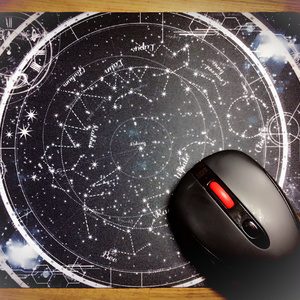 WT星座早見盤風マウスパッド/星ふる夜