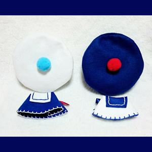 マリン風ベレー帽&マントset