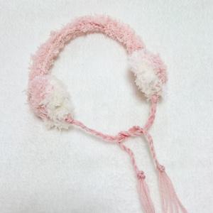 ぬいぐるみ用手編みの耳当て☆イヤーマフラー