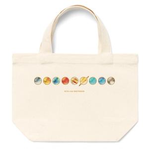 太陽系8惑星と冥王星★直列(サイズ違い2種)トートバッグ