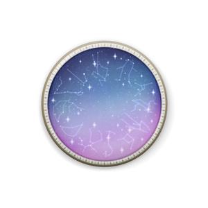 12星座と星の窓缶バッジ(サイズ違い2種)