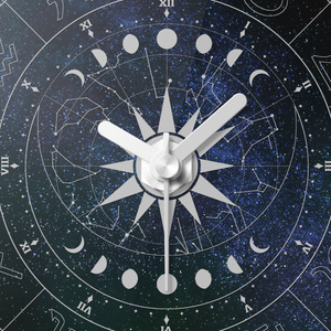 12星座アクリル時計
