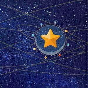 12星座と太陽系の軌道手帳型iPhoneケース(ベルトなし)