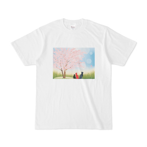 ねこ親子の花見