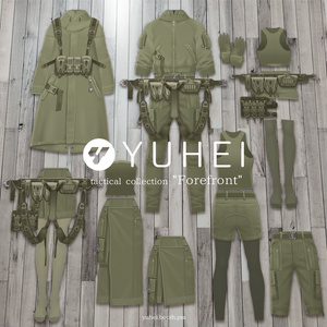 "【Khaki】tactical collection ""Forefront""【VRoid】"