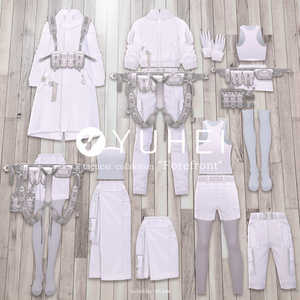 "【White】tactical collection ""Forefront""【VRoid】"