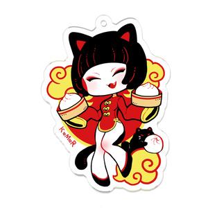アクキー・中華黒猫娘さん