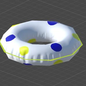 3Dデータ 浮き輪△180 CC0 1.0