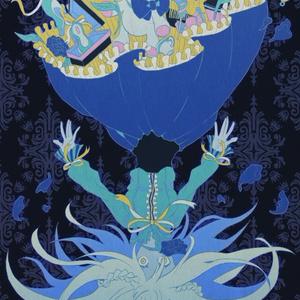falling down blue - ポストカード