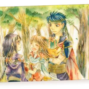 イラストカード(暁の女神)