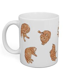 猫のナルト 散りばめデザインマグ
