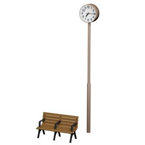 ベンチ&時計